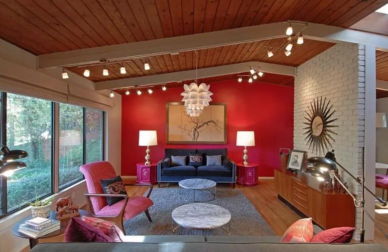 Iluminat sufrageria rosie