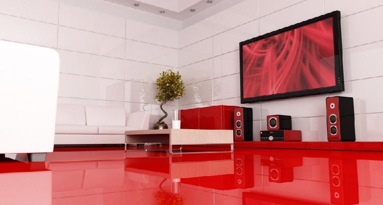 Sufrageria cu podea rosie